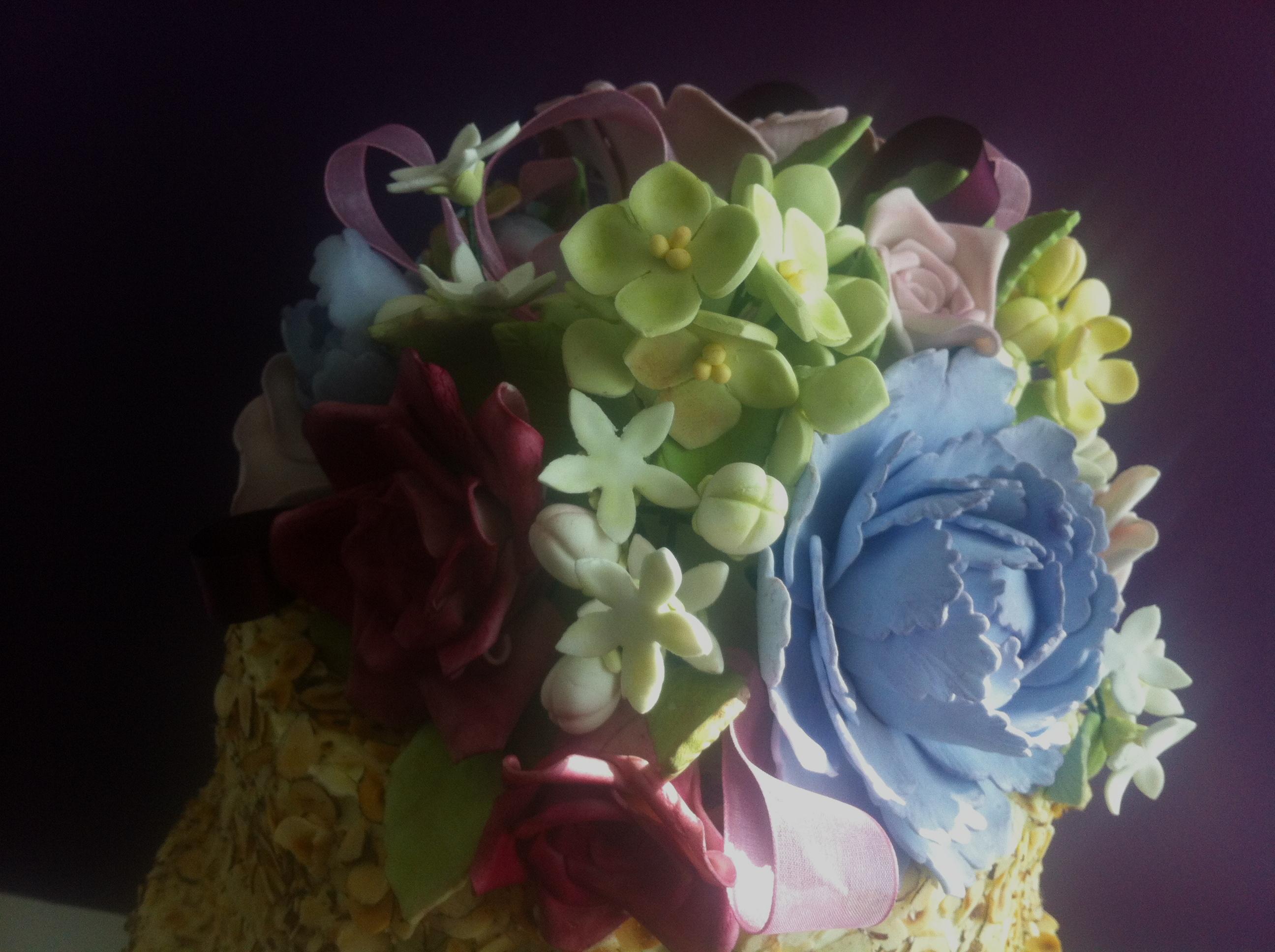 Sugar creations the cake tart gum paste flower bouquet izmirmasajfo
